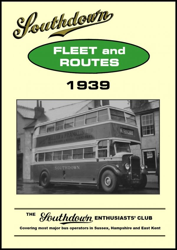Southdown Fleet and Routes 1939
