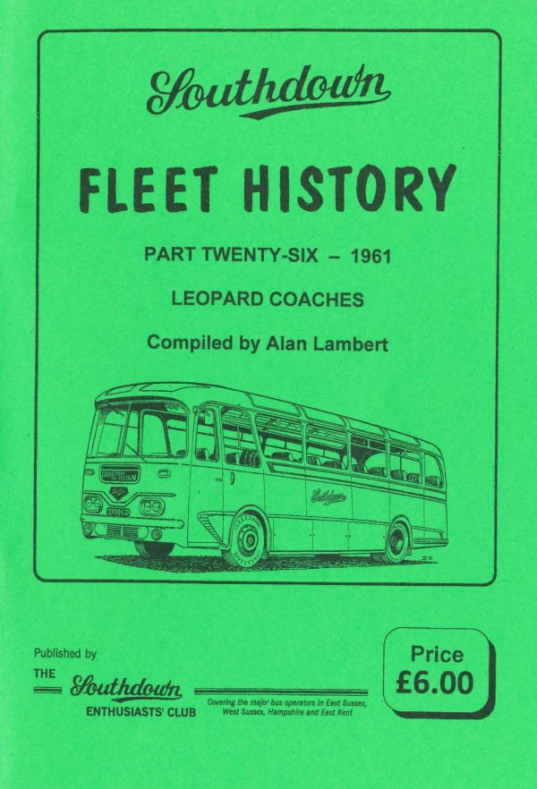 Southdown Fleet History 26, covering 1961