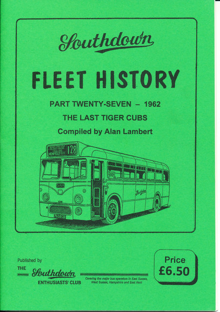 Southdown Fleet History 27, covering 1962