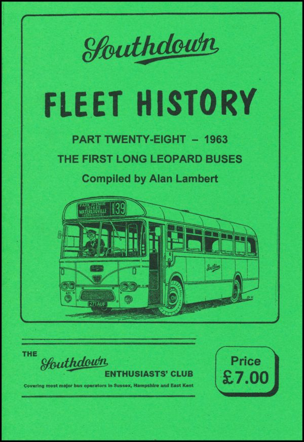 Southdown Fleet History 28, covering 1963